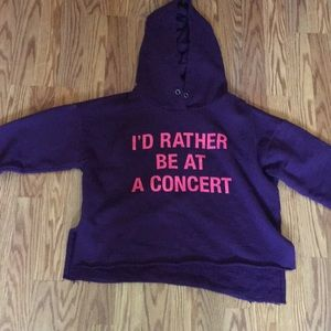 Forever 21 cut off hoodie small